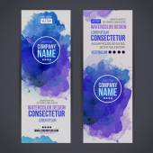 Vector watercolor baners — Stockvector
