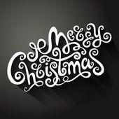 Allegra trafilati cartolina di Natale decorativi mano — Vettoriale Stock