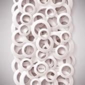 White paper rings background — Vecteur