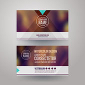 Business cards with blurred abstract background — Stock Vector