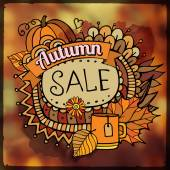Autumn sale blurred background — Stock Vector