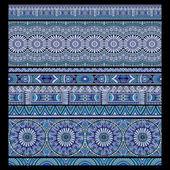 Ethnic seamless stripes background set — Stock Vector