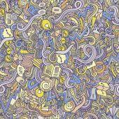 Doodles idea seamless pattern — Stock Vector