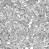 Photography doodles seamless pattern — Stock vektor
