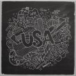 USA hand lettering and doodles elements background. — Stock Vector #59515765
