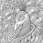 Decorative ornamental peacock background. — Stock Vector