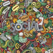 Social hand lettering   background — Stock Vector