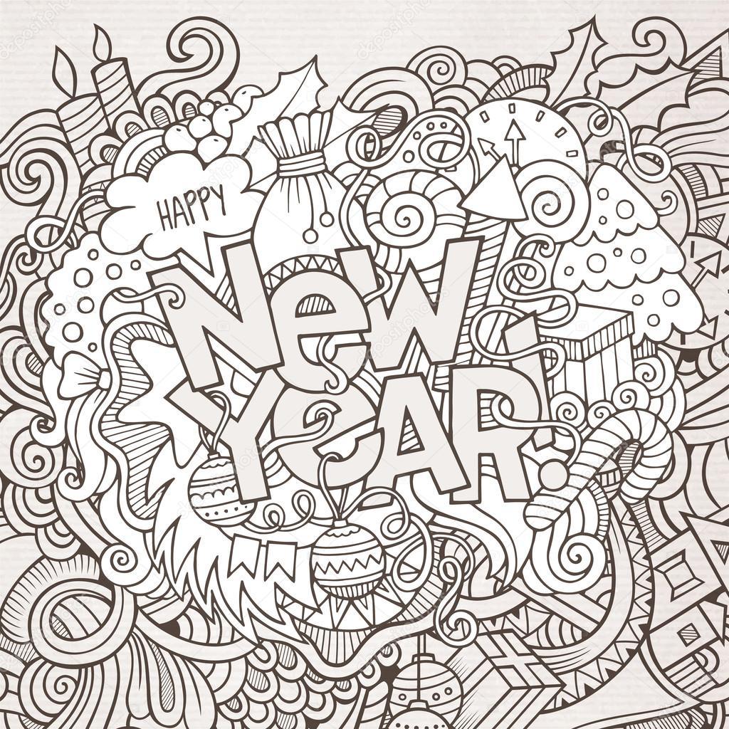 Новый год раскраски антистресс