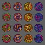 Set of 4 colors floral design elements — Stock Vector #59688131