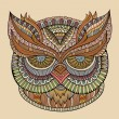 Decorative ornamental Owl head — 图库矢量图片 #60187039