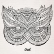 Decorative ornamental Owl head — Cтоковый вектор #60187659