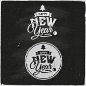 Gott nytt år uppsättning typografiska Design — Stockvektor