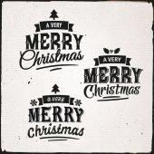 Christmas Set Of Typographic Design — Stock Vector
