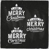 Christmas Set Of Typographic Design — Cтоковый вектор