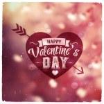 Happy Valentines Day. Creative graphic message — Stock Vector #62345369