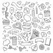 Set of love doodle icons vector — Stock Vector #62345415