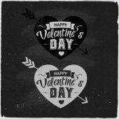 Valentines Day Set Of Typographic Design — Stock Vector