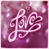 Love hand lettering - handmade calligraphy — Stock Vector