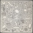 Set of love doodle icons vector — Stock Vector #62977819