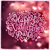 Valentines Day hand lettering — Stock Vector
