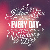 Valentines Day Lettering — Stock Vector