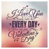 Sevgililer günü yazı — Stok Vektör