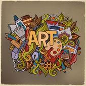Art hand lettering and doodles elements. — Stockvektor