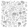 Set of love doodle icons vector — Stock Vector #63882669