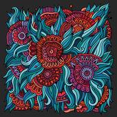 Vector abstract flowers background. — Cтоковый вектор