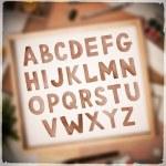 Watercolor colorful vector handwritten alphabet — Stock Vector #67966675