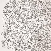 Easter vector sketch background — Stock Vector