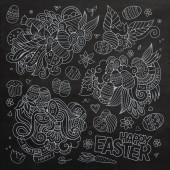 Easter vector symbols and objects — Stockvektor