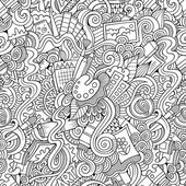 Cartoon vector art and craft seamless pattern — Stock Vector