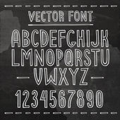 Hand drawn font. Vector chalkboard alphabet. — Stock Vector