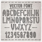 Hand drawn font. Vector alphabet. — Stock Vector