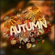 Autumn season hand lettering and doodles elements — Stock Vector #77383784