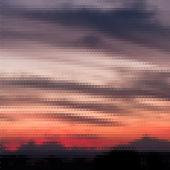 Retro sunset pattern of geometric shapes — Stock Vector