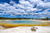 Sunset Lake Thermal Pool Yellowstone — Stock Photo