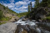 Little Firehole River near the Mystic Falls — Stock Photo