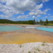 Black Opal Pool in Biscuit Basin, Yellowstone — Stock Video #53945201