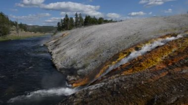 Firehole River Yellowstone National Park — Stock Video