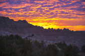 Sunrise in Badlands National Park — Stock Photo