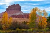 Wild Horse Butte Fall Colors and Beautiful Dramatic Sky Utah Lan — Stock Photo