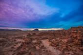 Beautiful Sunset Sky over the Goblin Valley — Stock Photo