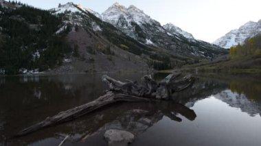 Maroon Bells Sunrise Aspen Colorado — Stock Video
