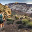 Girl Hiker in a Brimhall Natural Bridge Trail Capitol Reef Nati — Stock Photo #74912537