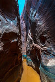 Water in the slow Canyon Vertical Composition — Stock Photo