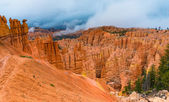Peek-a-boo loop trail Bryce Canyon — Stock Photo