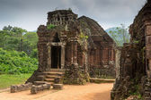 Hindu Temple at My Son, Vietnam built during Champa Kingdom — ストック写真
