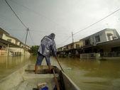 Great Floods Strike City — Stock Photo